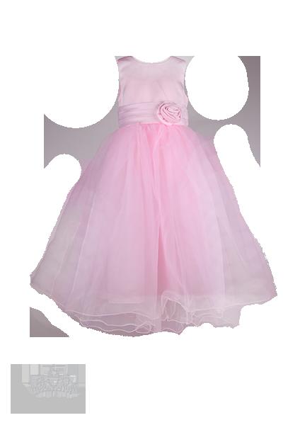 Фото: Нарядное выпускное платье с длинной юбкой (артикул 3072-light pink)
