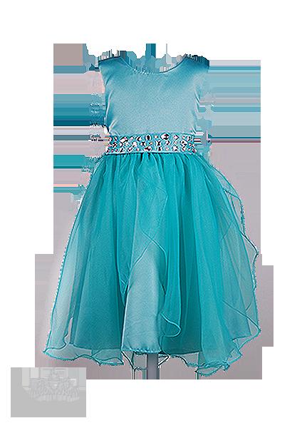 Фото: Праздничное детское платье модного цвета мяты (артикул 3075-mint)