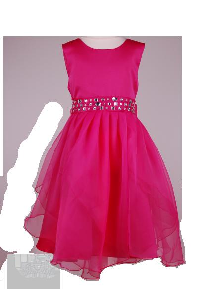 Фото: Красивое детское платье малинового цвета (артикул 3075-pink)