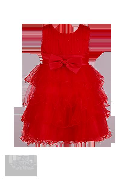 Фото: Яркое красное платье для юной леди с пышной юбкой из нежного фатина (артикул 3077-red1)