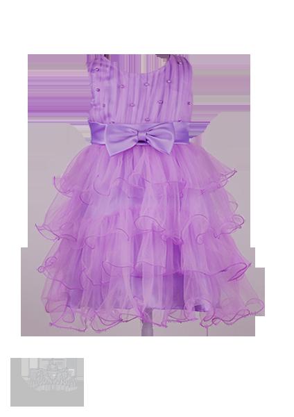 Фото: Сиреневое детское платье с пышными оборками из фатина (артикул 3077-violet)