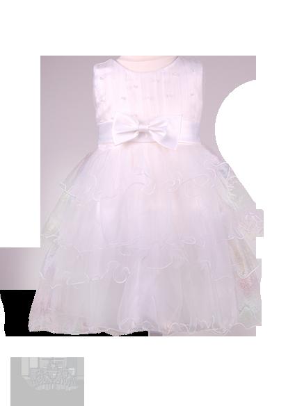Фото: Праздничное платье для девочки с объемной фатиновой юбкой (артикул 3077-white)