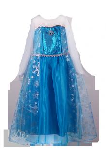 . Новогоднее платье для девочки в стиле Frozen