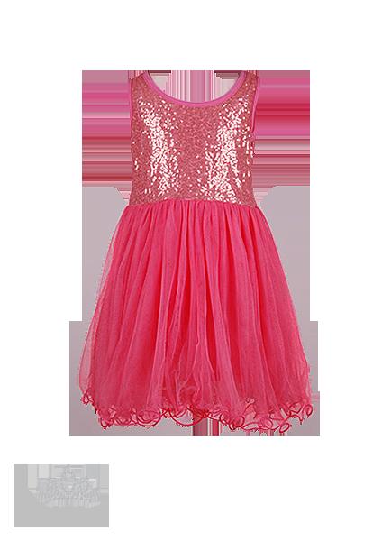 Фото: Красивое коралловое платье для девочки с золотистыми пайетками на лифе (артикул 3085-coral)