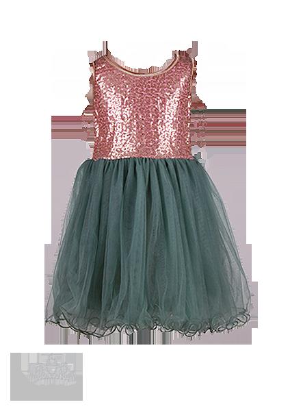 Фото: Необычное платье для маленькой леди (артикул 3085-green)