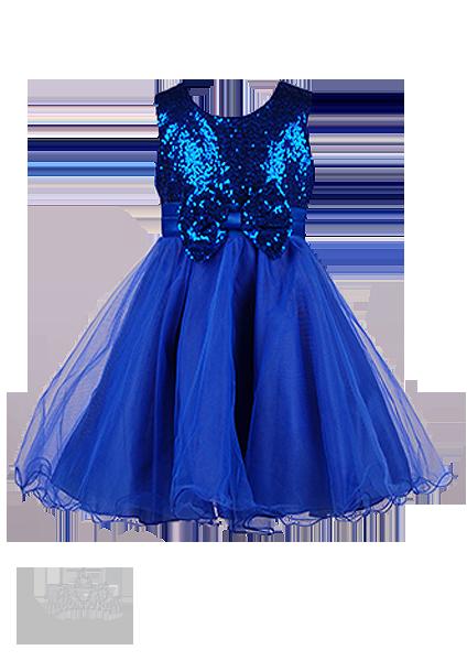 Фото: Платье с лифом в пайетках и бантиком (артикул 3087-blue)