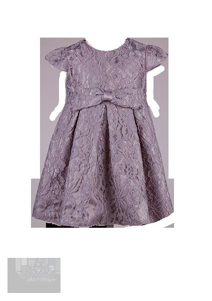 Фото: Красивое платье для девочки из кружева (артикул 3100-grey)