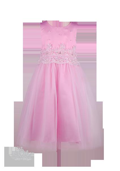 Фото: Детское выпускное платье розового цвета с пышной юбкой (артикул 3105-light pink)