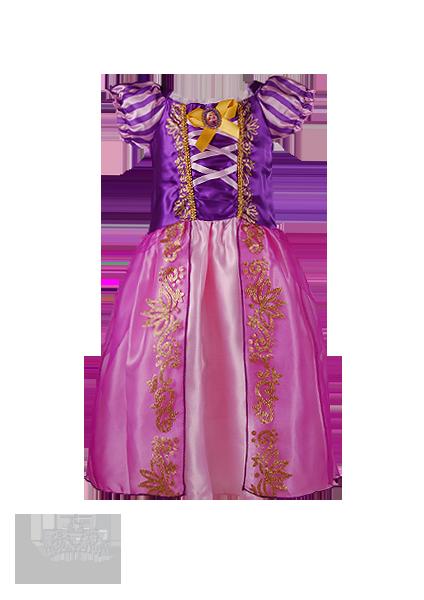 Фото: Красивый костюм Рапунцель для девочки (артикул 3109-pink-violet)