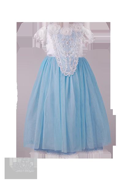 Фото: Сказочный костюм Золушки (артикул 3110-light blue)