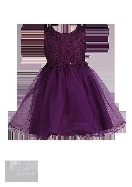 Фото: Эффектное сливовое платье для принцессы (артикул 3120-violet )