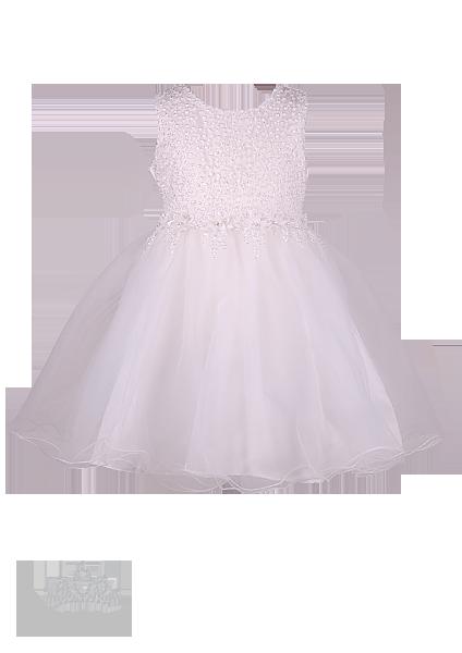 Фото: Белоснежное платье для девочки с вышивкой (артикул 3120-white)