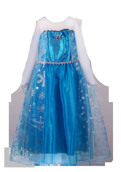 Фото: Новогоднее платье для девочки в стиле Frozen (артикул 3081-blue)
