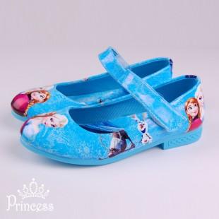 Фото: Яркие туфли в стиле Frozen (артикул 1088-blue)