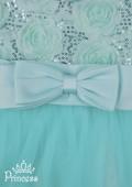 Фото: Детское выпускное платье мятного цвета  (артикул 3058-light green) - изображение