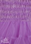 Фото: Сиреневое платье для девочки с рюшами и фатиновой юбкой (артикул 3008-violet) - изображение