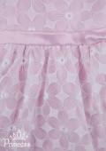 Фото: Красивое платье для девочки с белой вышивкой (артикул 3057-light pink) - изображение