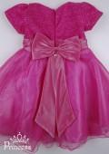 Фото: Нарядное розовое платье для девочки (артикул 3017-pink) - изображение