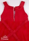 Фото: Красное выпускное платье для девочки (артикул 3019-red) - изображение