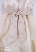 Фото: Бальное детское платье с поясом на талии (артикул 3020-beige) - изображение