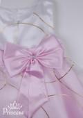Фото: Розовое платье для девочки с золотыми кольцами  на юбке (артикул 3022-light pink) - изображение