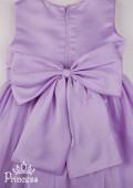 Фото: Платье для девочки на выпускной с большим цветком (артикул 3023-violet) - изображение