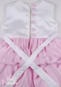 Фото: Эффектное платье для девочки с бантом (артикул 3027-light pink) - изображение