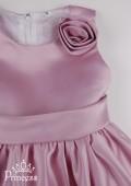 Фото: Детское платье  с объемными розами на юбке (артикул 3029-lilac) - изображение