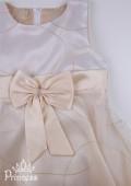 Фото: Нарядное платье для маленькой принцессы с золотистой юбкой (артикул 3022-gold) - изображение