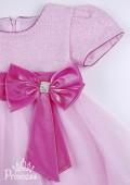 Фото: Детское платье с блестящим лифом (артикул 3017-light pink) - изображение