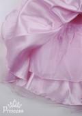 Фото: Платье для девочки с розами на лифе (артикул 3024-light pink) - изображение