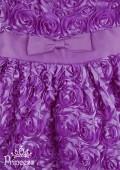 Фото: Фиолетовое детское платье из объемных роз (артикул 3032-violet) - изображение