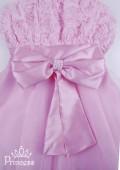Фото: Платье для девочек на бретелях с розами и бисером на лифе (артикул 3025-light pink) - изображение