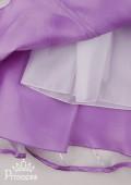 Фото: Нарядное детское платье с золотым принтом (артикул 3022-violet) - изображение