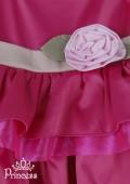 Фото: Праздничное платье на девочку с воланами на юбке (артикул 3053-pink) - изображение