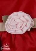 Фото: Нарядное платье для девочки с завышенной талией (артикул 3053-red) - изображение