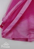 Фото: Детское платье для выпускного с бантиками на талии (артикул 3051-pink) - изображение