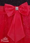 Фото: Вечернее детское платье с мерцающим лифом (артикул 3017-black-red) - изображение