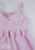 Фото: Платье праздничное для девочки светло-розового цвета (артикул 3051-light pink) - изображение
