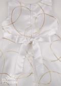 Фото: Белое платье с красивым узором для юной леди (артикул 3022-white) - изображение