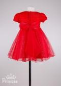 Фото: Яркое вечернее платье для девочки (артикул 3017-red) - изображение