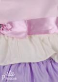 Фото: Платье пышное для девочки с разноцветными рюшами для девочки (артикул 3049-colored) - изображение