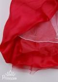 Фото: Детское платье с блестящим лифом и пышной юбкой (артикул 3048-red) - изображение