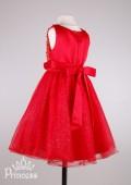 Фото: Платье для юной леди с вышивкой цветами на лифе (артикул 3039-red) - изображение