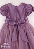 Фото: Детское вечернее платье с розами на лифе (артикул 3047-violet) - изображение