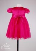 Фото: Атласное платье цвета фуксии для девочки (артикул 3047-pink) - изображение