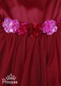 Фото: Вечернее детское платье для торжественного события (артикул 3047-wine) - изображение