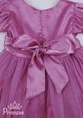 Фото: Нарядное платье для девочек светло-розового  цвета (артикул 3047-light pink) - изображение