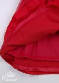 Фото: Детское платье с оригинальным вырезом на груди (артикул 3046-red) - изображение