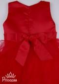 Фото: Красивое детское платье с бисером на лифе (артикул 3044-red) - изображение
